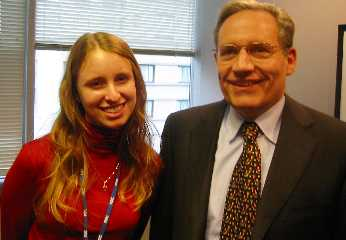 Andrea James and Bob Woodward